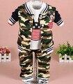 Liquidación nuevo 2015 de la historieta del bebé que arropan el sistema de camuflaje de la ropa del bebé de mickey niños ropa de los niños trajes traje de niño