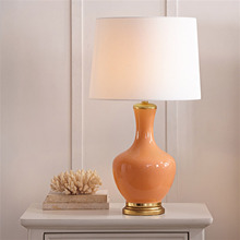 Country Simple Creative Table Lamps Decoration Orange Ceramic Pure Copper Living Room Bedroom Bedside