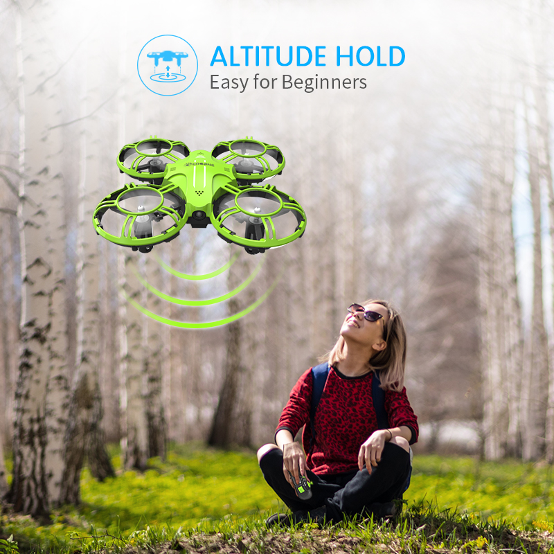 Eachine E016H Mini Altitude Hold Headless Mode 8mins Flight Time 2.4G RC Drone quadcopter RTF RC Helicopter For Kids VS S9HW H49 5