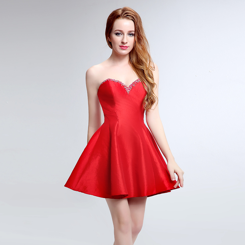 Charming ever pretty Cocktail Dresses 2017 with Sweetheart Zipper Sleeveless Short and Crystal Prom and Party Dresses  LX194