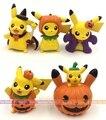 3-3.5cm 5pcs/lot Mini cute kawaii Japanese anime figure pikachu Halloween ver action figure set collectible model toys