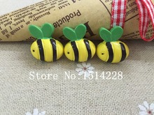 Resin Cute Bee Flatback Cabochon For Phone Decoration DIY18