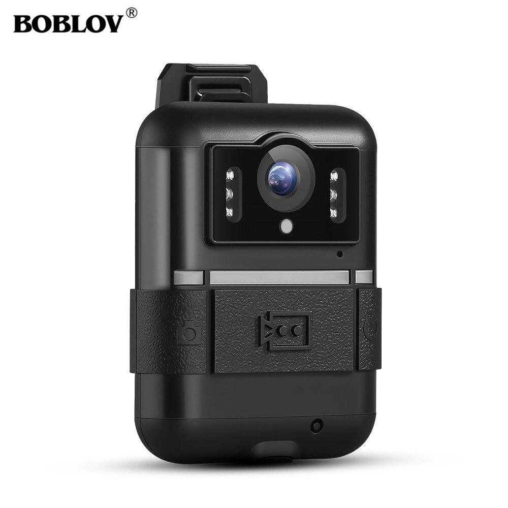 BOBLOV WN11 Police Camera Wifi IR Night Vision Body Worn Camera Policial 170 Degree 32GB Record Video Security Pocket Camara