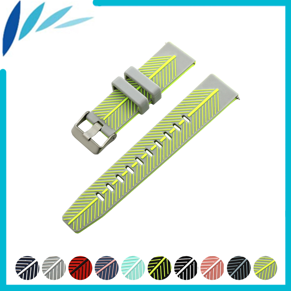 Silicone Rubber Watch Band 22mm for Fossil Quick Release
