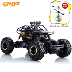 Cymye rc car 6141 4WD 1/16 Scale 2.4G Remote Control Off Road Vehicle Climbing RC Buggy
