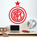 Parede arte decoração para casa DIY removíveis Inter de Milão de futebol Europa liga logotipo da equipe adesivos de parede sala de estar quarto den # T044