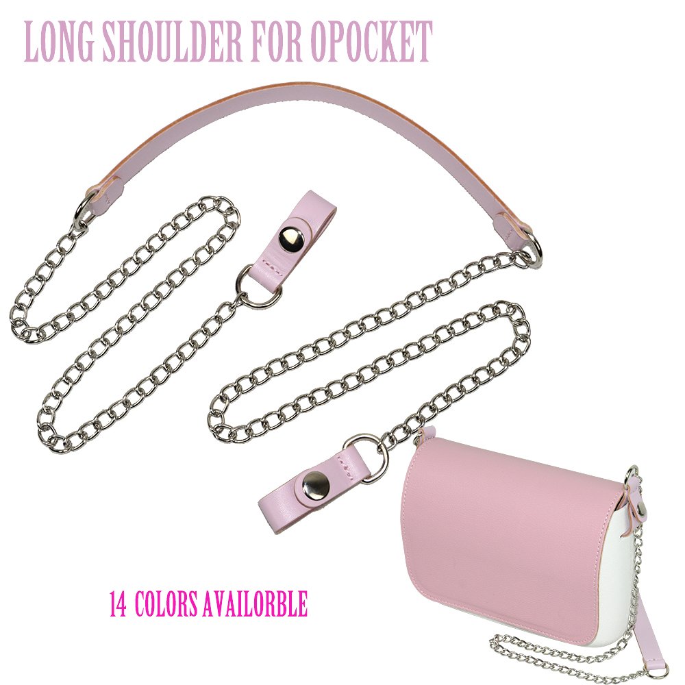 2019 New Colorful Long Shoulder Bag Chain Attachment Fitting With Faux Leather Strap Clip Closure For OPocket Obag O Bag