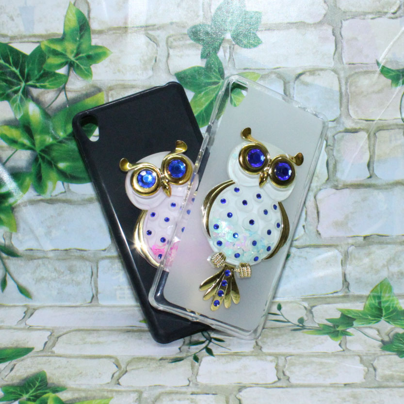 <font><b>Phone</b></font> Cases Cover For <font><b>Alcatel</b></font> <font><b>Idol</b></font> <font><b>4</b></font> OT6055 5.2&#8243; 3D Quicksand Liquid Soft Siliconae Case Girl Back Covers Capa
