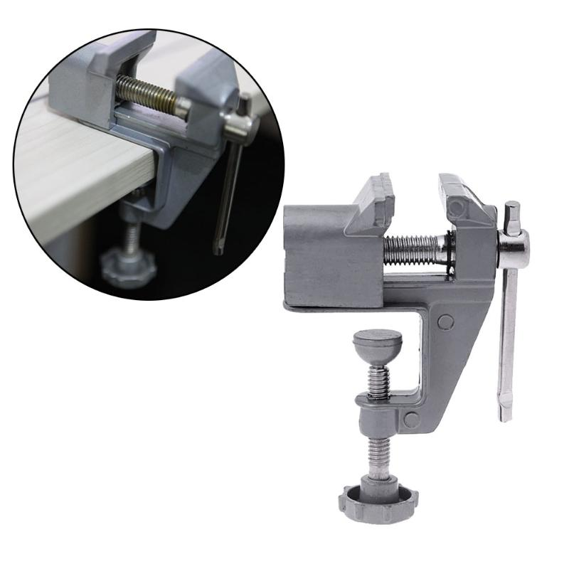 30mm Mini Table Vice Aluminium Alloy Mengene Bench Clamp Screw Vise DIY Jewelries Craft Mould Fixed Repair Tool Electric Drill goxawee mini table vice dremel rotary tool screw bench vise for diy jewellery craft mould fixed repair tool dremel tools