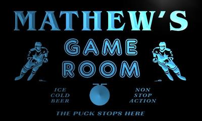 x0242-tm Mathews Penalty Box Game Room Custom Personalized Name Neon Sign Wholesale Dropshipping On/Off Switch 7 Colors DHL