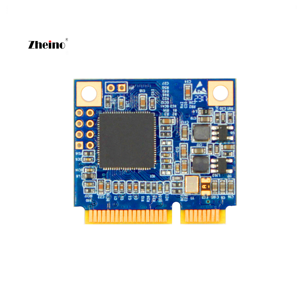 Zheino Half Size mSATA 16GB SSD 2D MLC NAND Flash Not TLC SATA3 Internal Module Solid State Disk Drive for PC Laptop MACBOOK