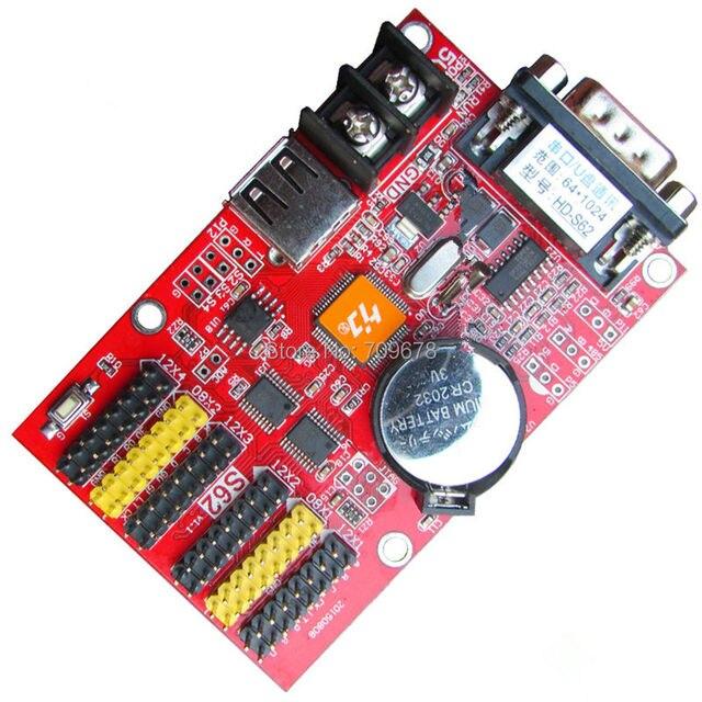 HD-S62 (HD-Q41) USB-Disk & Последовательный 232 Коммуникационных Портов Huidu СВЕТОДИОДНЫЙ Дисплей Платы Управления 2xHub08 и 4xHub12