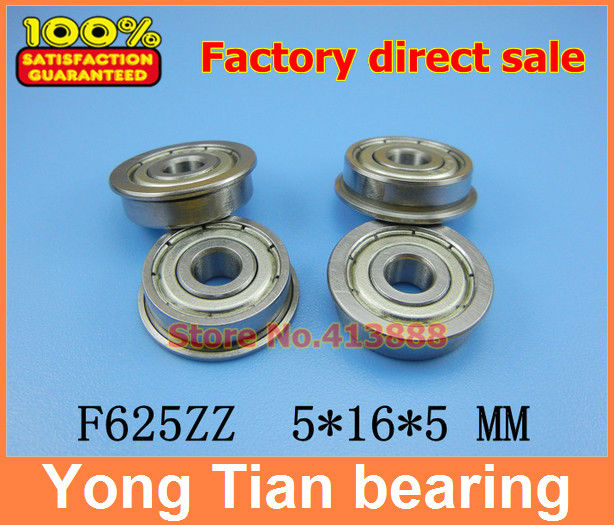 Free shipping SF625-2Z SF625ZZ SF625zz F625zz Flanged Flange Deep Groove Ball <font><b>Bearings</b></font> <font><b>5*16*5</b></font> mm for 3D printer SSF625ZZ image
