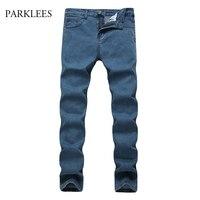 New Blue Jeans Men Jeans Homme 2017 Autumn Classic Slim Fit Straight Men Jeans Casual Business Formal Cotton Dress Jeans Pants