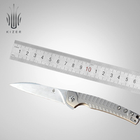 Kizer hunting knife survival knife SPLINTER ki3457 ball bearing knife high quality outdoor camping knife edc hand tools