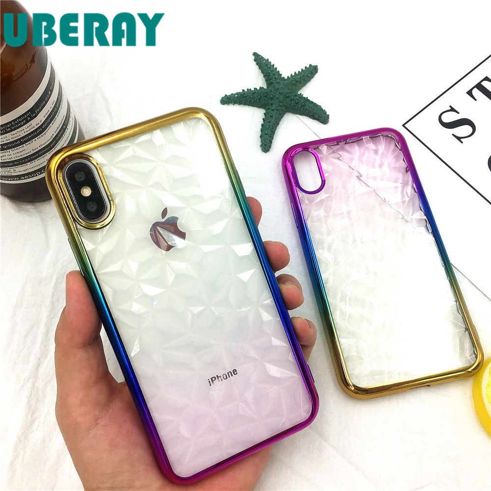iSecret 3D Diamond Plating Phone Cases For iPhone X Luxury Soft TPU Case For iPhone 8 Accessories Hot Selling Coque For iPhone7