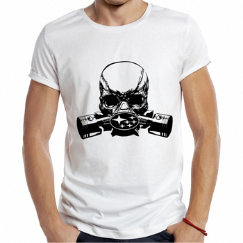 Punk Skull Mask Printed T Shirt