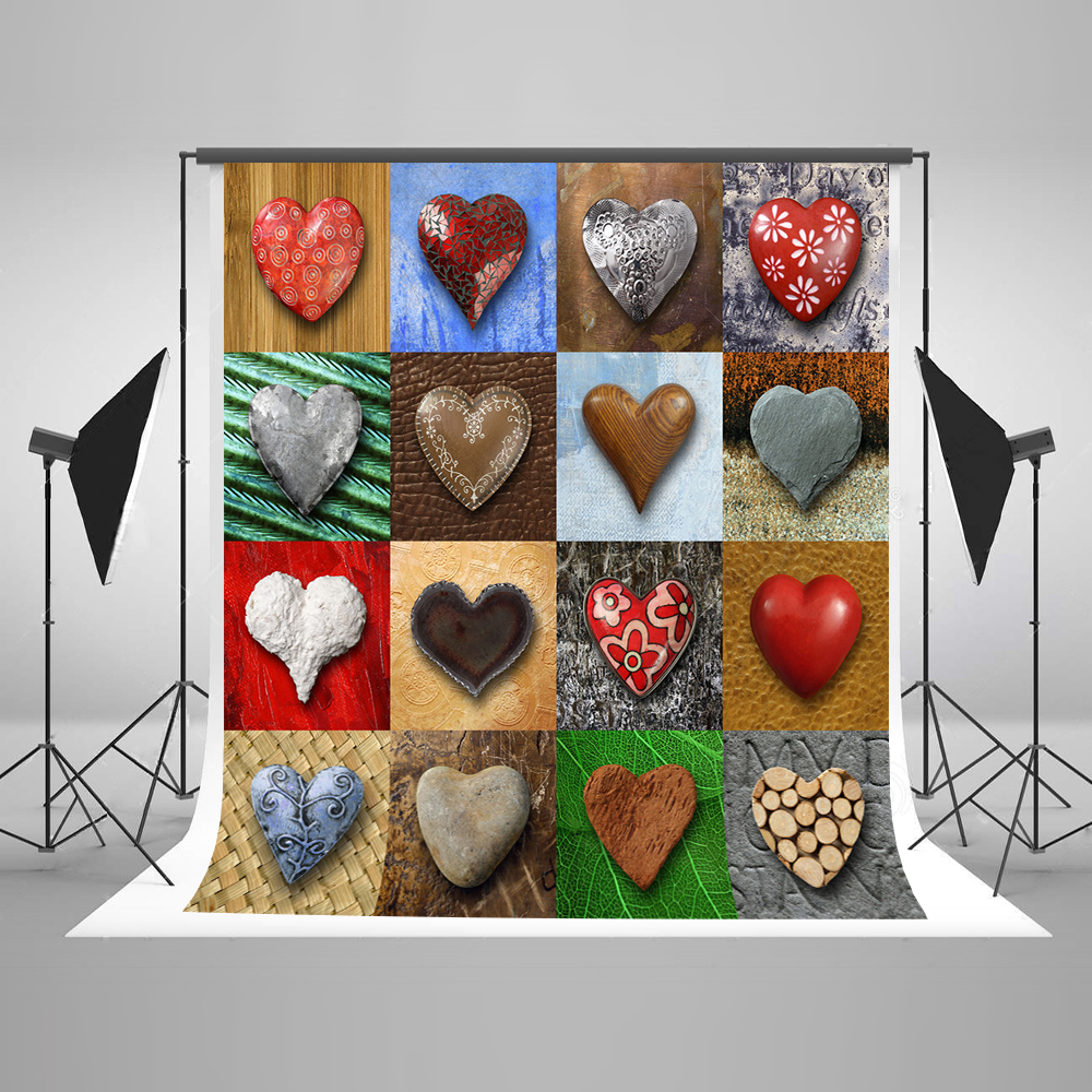 Kate 6.5x10ft Valentine'S Day Wedding Photography Backdrops Heart Shaped Stone Photo Backdrop Fabric Cotton Washable Backdrop 5x8ft oxford fabric photography backdrops sell cheapest price in order to clear the inventory 1 day shipping njb 014