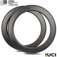 High TG Carbon Fiber Dimple Rims 80mm Depth Basalt Braking Surface Golf Surfce Carbon Rims For Road Bike Or TT Bike