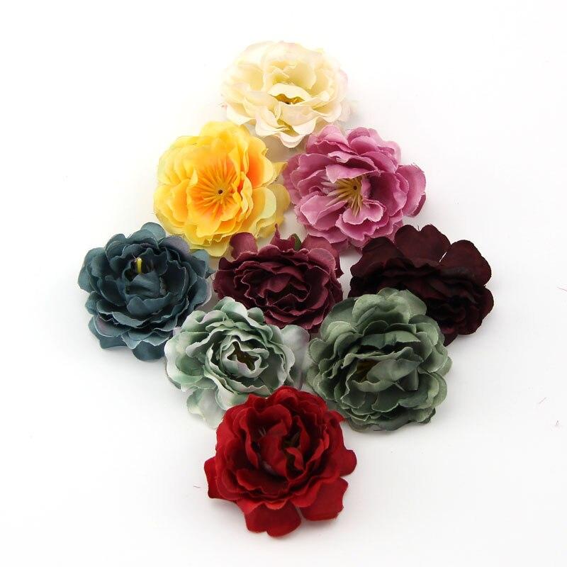 20 x brillant dos plat résine rose bud fleur 13mm x 8mm cabochons 10 couleurs