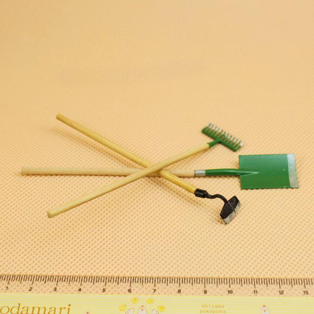 G05-x394 одежда для малышей подарок игрушка 1:12 кукольный домик мини Мебель миниатюрный rement садовые инструменты 3 шт./лот