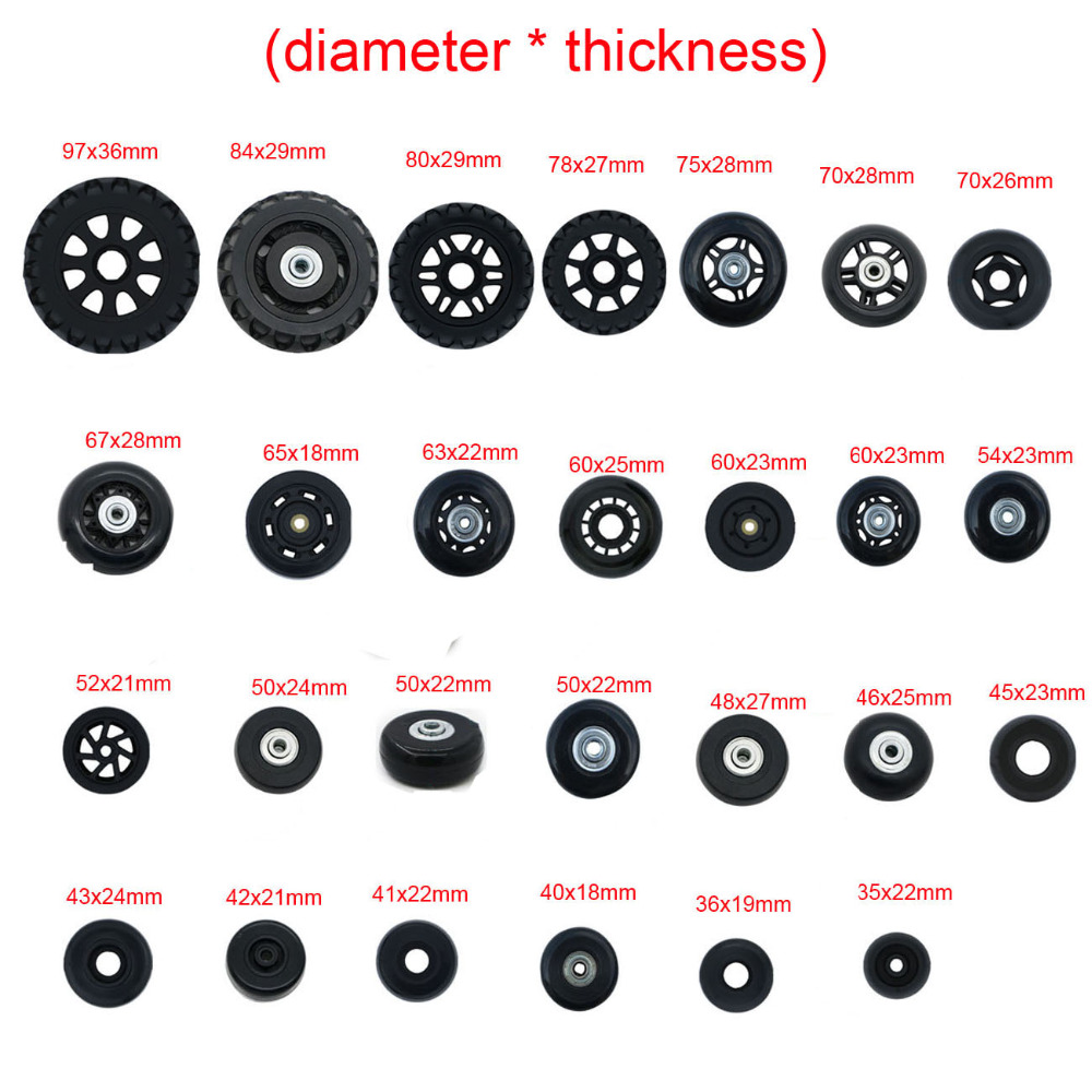 NEW Luggage Replacement Wheels Suitcase Repair Replacement Parts 360 Spinner Upright Mute High Quality Wheels For Suitcases 2PCS