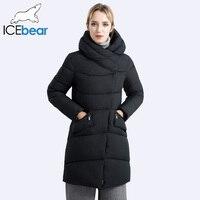 ICEbear Новинка 2017 года Дизайн ветрозащитные теплые модные женские туфли Мужские парки Средства ухода за кожей шеи с капюшоном зима утолщение