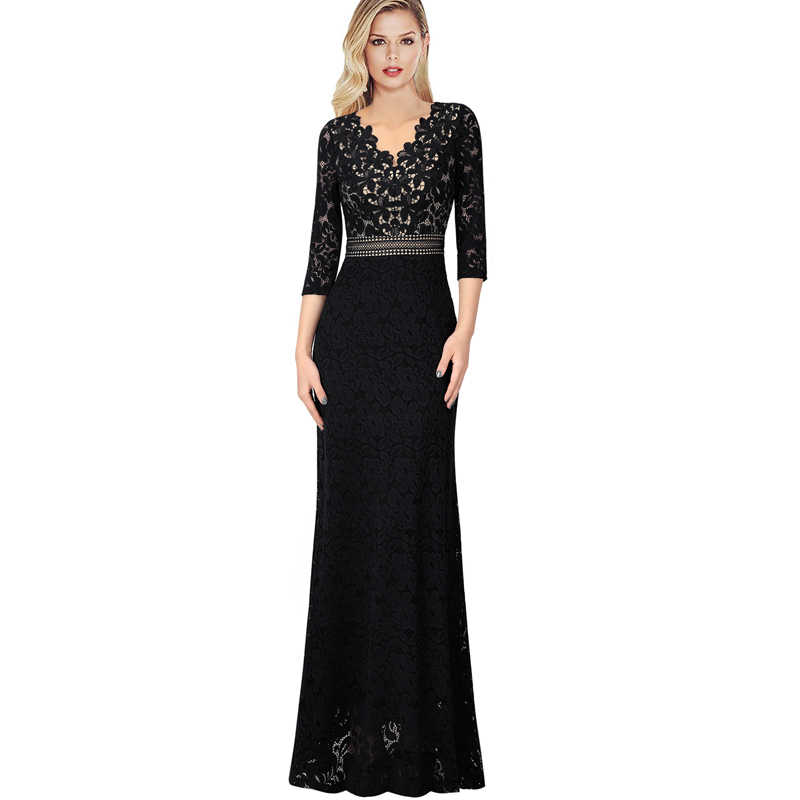 60c06478dc Vfemage Womens V Neck Floral Lace Keyhole Back Formal Evening Prom Gowns  Mother of the Bride Wedding Party Gala Maxi Dress 1018