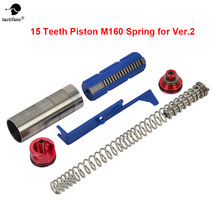 15 Gigi Piston/Silinder/Cylinder Head/Kepala Piston/Musim Semi Panduan/Tappet Piring Airsoft AEG Tune up Torque Kit untuk M4 160 Musim Semi(China)