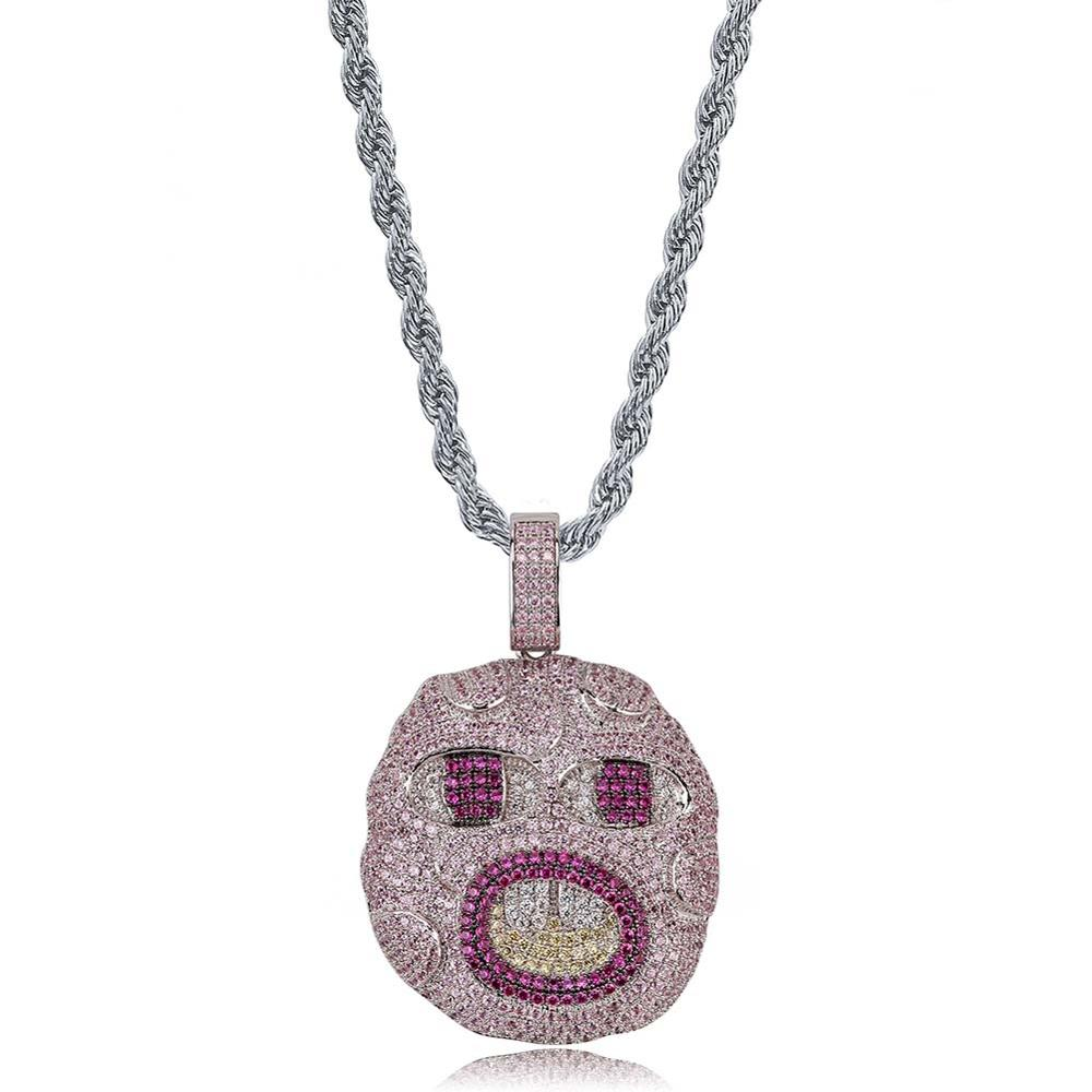 United Bling Grenade Large Pendant Necklace with 30 Rope Chain