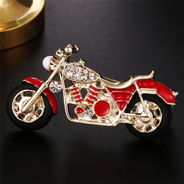 Cool รถจักรยานยนต์เข็มกลัดสำหรับเด็กของขวัญ Red Enamel Badge เครื่องแต่งกายเครื่องประดับกระเป๋าเป้สะพายหลังรุ่นเข็มกลัด Pins