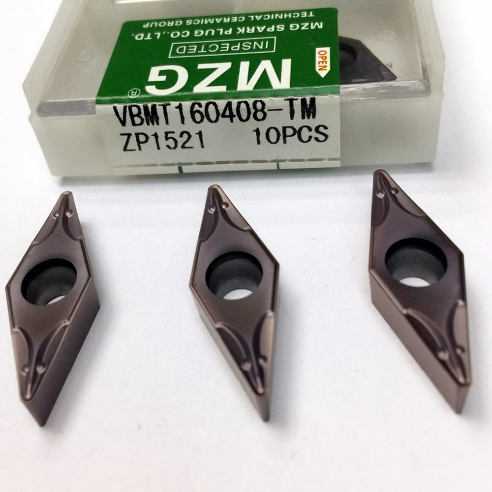 MZG VBMT110304 VBMT160408 TM ZP1521 CNC Cutting Boring Turning Solid Carbide Inserts for Stainless Steel Processing