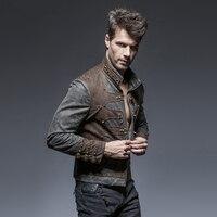 Steam Punk Vintage Spliced Style Short Jacket for Man Autumn Winter Warm Zipper Stand Collar Coats