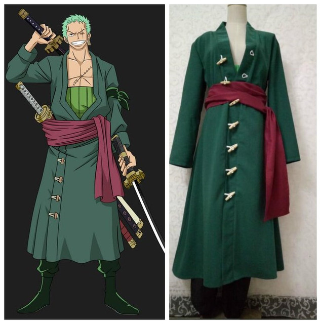 One Piece Halloween Set To Return To Tokyo One Piece Tower: JP Anime ONE PIECE Roronoa Zoro Cosplay Clothes After Two