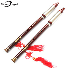 Imitate Rosewood ABS Resin Bawu Flute Chinese Vertical Flute Key of F&G Handmade Folk Music Instrument China Dizi
