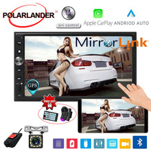 7'' 2 DIN Car Radio Rear Camera DVR Mirror link Touch Screen GPS Navi Autoradio FM MP5 For Apple Carplay & Android Car Stereo 7 2 din touch screen car stereo mp5 player 4core android os bluetooth wifi gps navigator auto fm radio autoradio mirror link