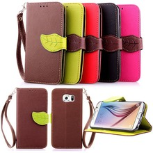 S6 Case High Quality PU Leather Case For Samsung Galaxy S6 G9200 Flip Wallet Case Book Stand Card Slot Phone Cases