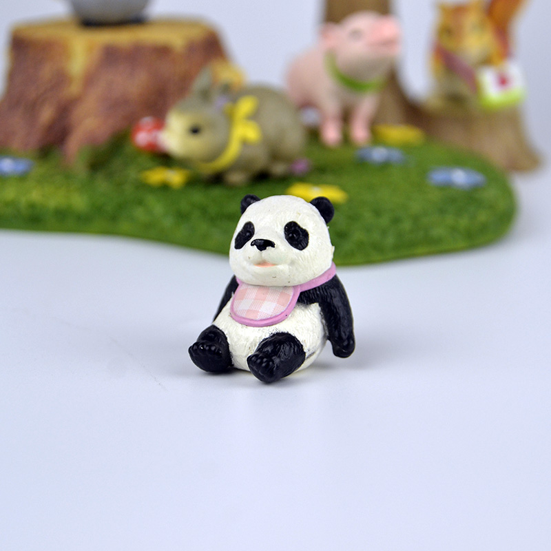 8Pcs Kawaii Panda Action Figures Kids toy Gift Mini PVC Preschool Toy Set YN