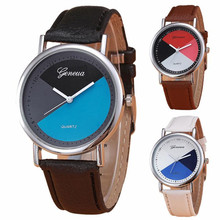 2016 Relogio Feminino New Womens Retro Design Leather Band Analog Alloy Quartz Wrist Watch Round Case Time Clock Lady Gift Hot