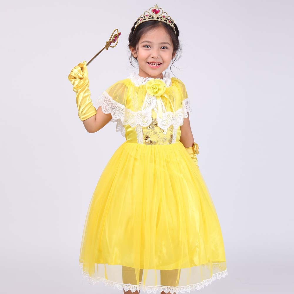 2017 New Pattern Girl Princess Full Dress 61 Show Serve European Foreign Trade Cinderella