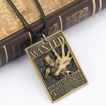 Anime One Piece Ace Warrant Pendant Necklace