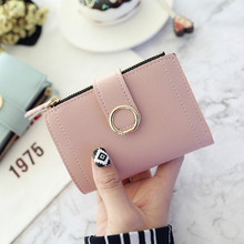 2019 Women Wallets Small Fashion Brand Leather Purse Ladies Card Bag Clutch Female Money Clip
