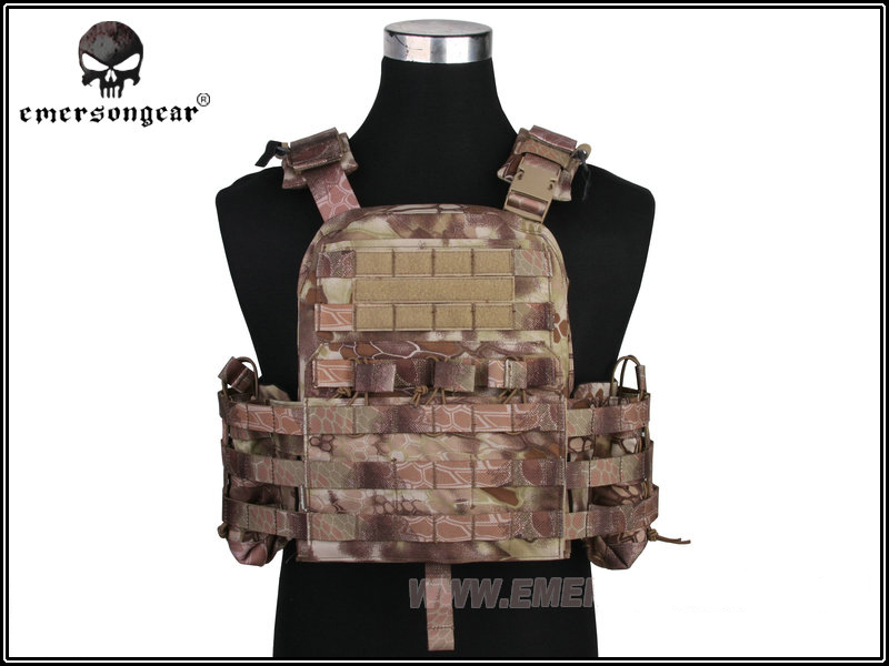 Emerson Airsoft Combat Tactical Vest Military Plate Carrier 500D Nylon Shooting Hunting Vests Airsoft Paintball Gear EM7435 HLD