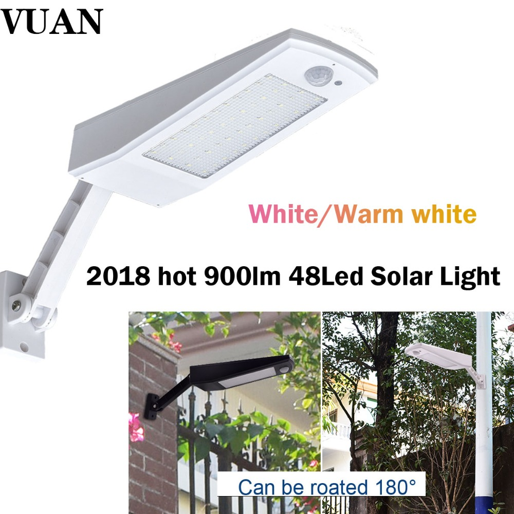 Newest 900LM 48 LED Outdoor Waterproof Solar Light With Four Modes PIR Motion Sensor Garden Solar Wall Lamp Street Light newest style led solar wall light solar lamp outdoor solar garden decorative lamp