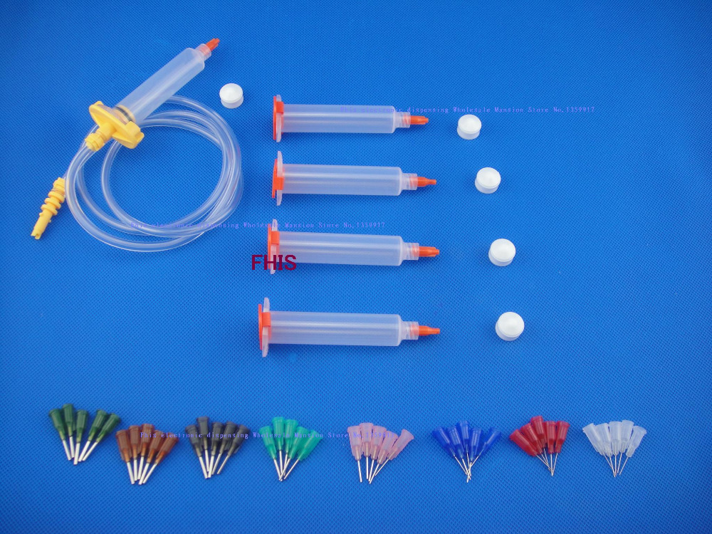 10CC Syringe  Solder Paste Adhesive Glue Liquid Dispenser &Dispensing Needle Tip стоимость