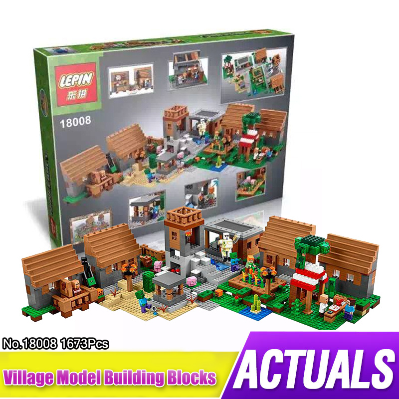 1600+pcs Model building kits compatible with lego my worlds MineCraft Village blocks Educational toys hobbies for children 18003 model building kits compatible my worlds minecraft the jungle 116 tree house model building toys hobbies for children