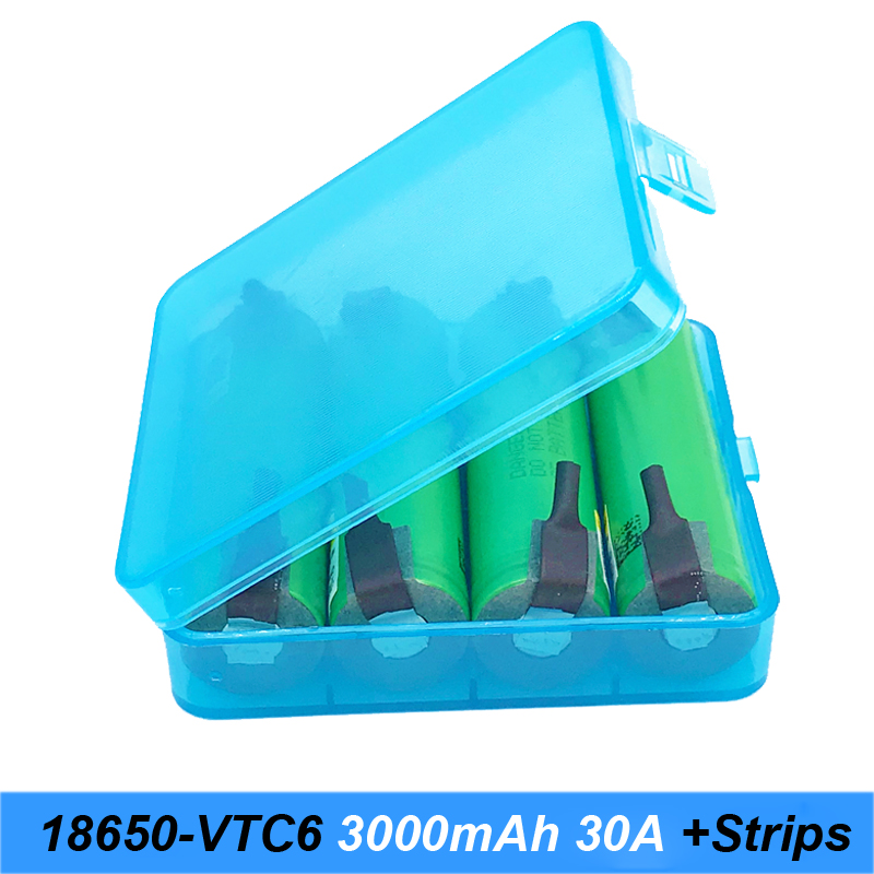 18650 VTC6 3000mAh 30amps for screwdriver 18650 with strips soldered rechargeable batteries for electric cigarette use  AU28
