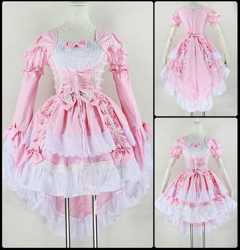 Cosplay Lolita Princess Dress Cute Maid Service Black and White Maid Costume Anime Costume School Color Play Sexy