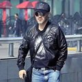 New 2016 Men's clothing Motorcycle leather water wash PU leather jacket outerwear costumes