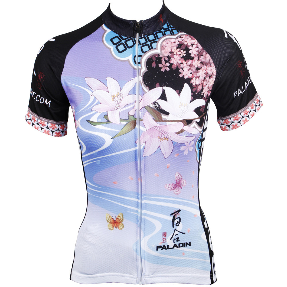 CYCLING JERSEYS Women top sleeve Cycling Jersey Personas Lily and Plum Bicycle Shirt hot Cycling Clothing size XS-6XL ILPALADIN 2016 new men s cycling jerseys top sleeve blue and white waves bicycle shirt white bike top breathable cycling top ilpaladin